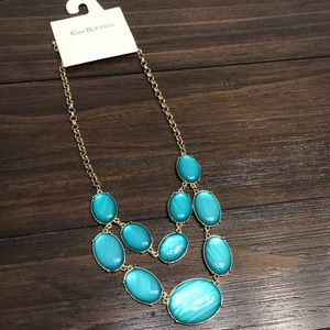 ✨NWT✨Gold & Turquoise Gemstone Necklace ✨